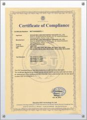 internation certificate for solar light controller